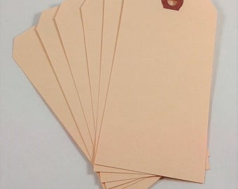 Large Blank Manilla Art Tags - Gift, Scrapbooking, Papercraft and Art Journal Tags - Card Making, Gift Packaging Tags - Set of 6, 12 or 18