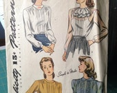 Vintage Simplicity 4556 Shirt Size 18 Bust 36 Forties