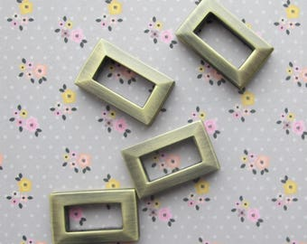 Square Eyelets | 4 Rectangular Square Screw Together Grommets