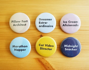 Real Jobs 1.5 inch Pinback Buttons - Set of 6