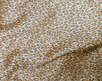 "1 yards of leapard print stretch Knit fabric Brown & Black 64"" wide up to 2 yards"