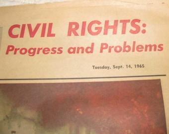 Vintage Newspaper The Denver Post Civil Rights Progress and Problems Tuesday, Sept. 14, 1965 Bonus