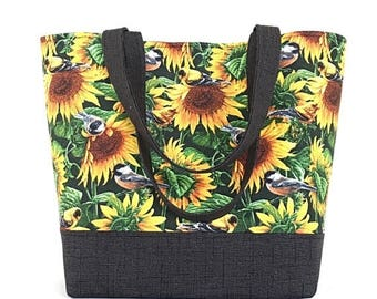 MOTHERS DAY SALE Fabric tote, Large handbag, bags and purses, tote bag, sunflower tote, purse, gift for women, Dee's designs,