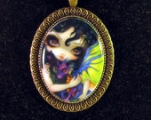 Darling Dragonling V Cameo Necklace from Jasmine Becket-Griffith Art fairy baby dragons dragon