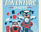 World of Adventure - Screenprinted Art Print