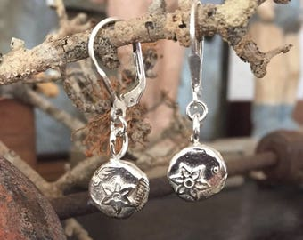 Ancient Collection Sterling silver earrings - Little treasure