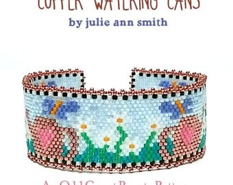 Julie Ann Smith Designs COPPER WATERING CANS Odd Count Peyote Bracelet Pattern