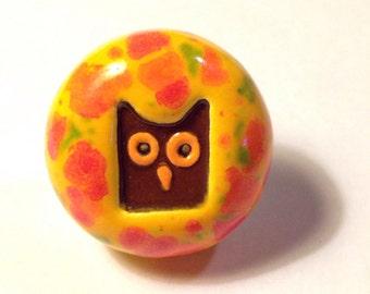 Owl Ceramic Handmade Knob