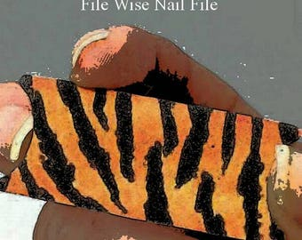 Tiger Files File Wise Nail Files Bride Shower Favors Beauty Manicure Pedicure Bridesmaid Gifts Teen Girl Party Mini Nailfile DIY Nail Care