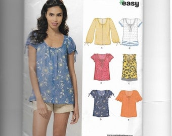 New Look Misses' Tops Pattern 6891