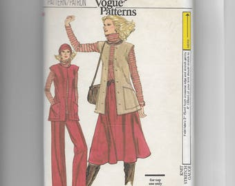 Vogue Misses' Jacket , Top, Skirt and Pants  Pattern 9928