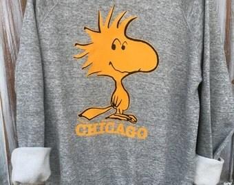 SALE- Retro Woodstock Sweatshirt-Chicago-Artex-XL-Vintage Sweatshirt