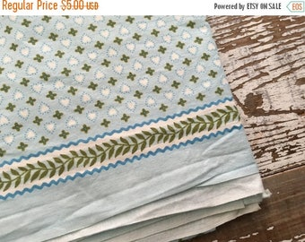 40% OFF- Vintage Heart Fabric-Blue and Green-Valentines Day