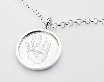 Handprint Shadowbox Necklace