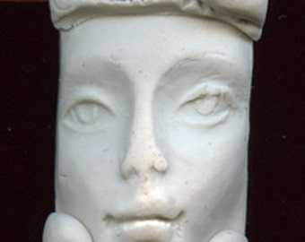 Polymer  Faux Bone One of a Kind  Detailed Top  drilled  Layered  Face face pendant bead  FBP 1
