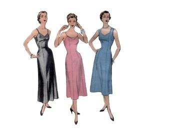 50s Princess Seam Slip pattern Fitted Full Slip pattern vintage Lingerie pattern 36-30-39 Advance 6734