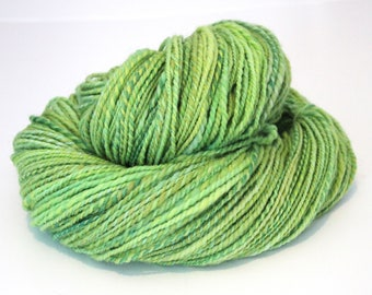 Handspun Yarn Hand Dyed Cheviot Wool 180g 260 Yards