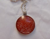 Red Brick Dust Tetragrammaton Occult Charm Necklace by Ugly Shyla protection - good fortune - goth - witch - pagan - hoodoo