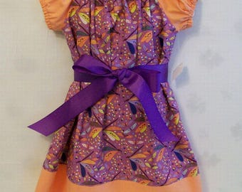Girls Peasant Dragonfly Dress, Lavender Girls Dresses,  Girls Peasant Dress, Girls , Girls Clothing, Made in the USA, #8