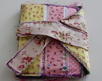 Fabric covered journal, junk journal, travel  journal, daily journal, scrapbook, pregnancy journal, upcycled journal, scrapbook journal