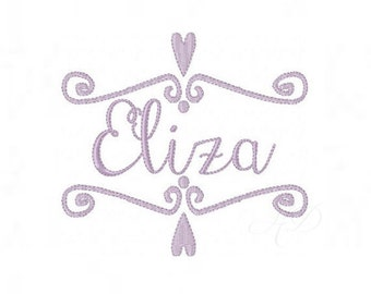 Heart Frame Embroidery Font Embroidery Monogram Design