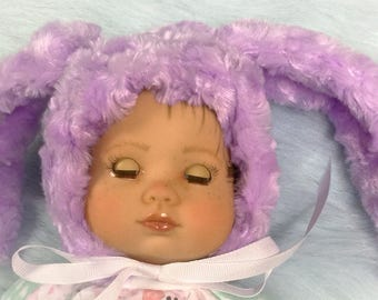 """Limited edition little Bunny hat  for 15"""" to 18"""" baby doll"""