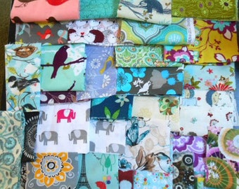 SUPER Great PRICE Designer Fabric scraps and Salvages - all sizes - Perfect for Quilters/Patchwork/Crafters