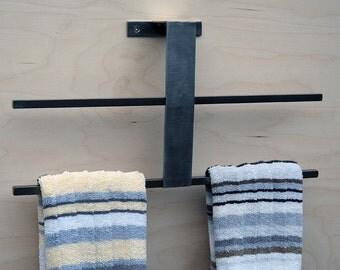 Towel Bar / Towel Rack for Kitchen or Bath Minimal, Modern, Stainless Steel / Mild Steel