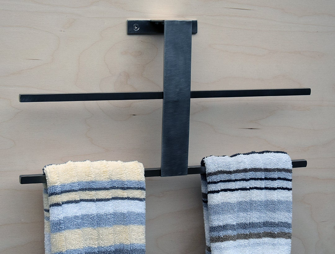 towel bar towel rack for kitchen or bath minimal modern. Black Bedroom Furniture Sets. Home Design Ideas