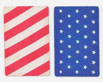 Collection of Vintage Playing  Cards with a Patriotic Theme