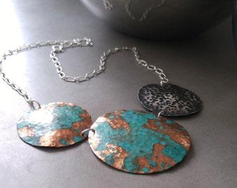 Esmeralda, Sterling Silver and Copper Necklace