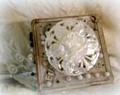 vintage carved mother of pearl brooch carved flower carved floral mother of pearl souvenir from bethlehem