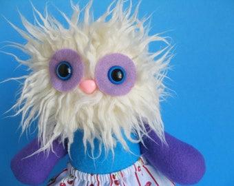 Girl Doll Yeti Monster Twirly Skirt Abominable Snowman Stuffed animal Plush