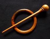 Shawl pin in Pear wood #4