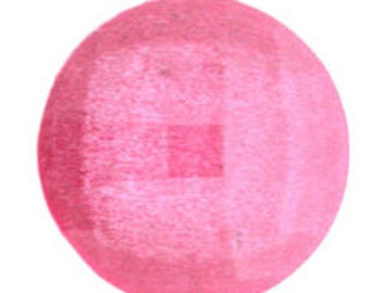 50pieces - 15mm Round Faceted Acrylic Glitter Gem Rhinestone in Fuchsia