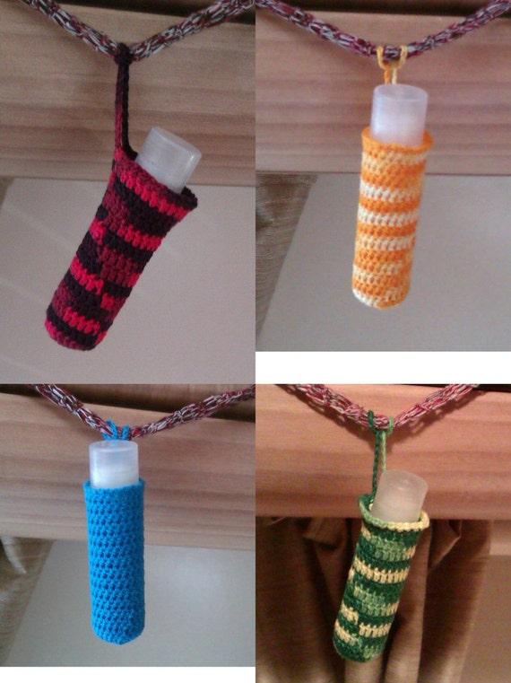 Crocheted Lip Balm / Lipstick Cosies - tidy purse organisers!