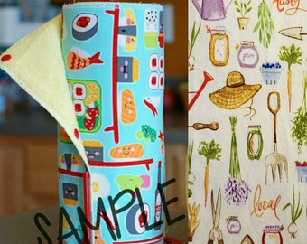 Unpaper Towel | Reusable Paper Towel - Vegetable Garden Tree Saver Towel | Kitchen Towel | Snapping Cloth Paperless Towel