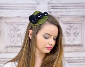 Soot Sprite Headband, Totoro, Cosplay Headband, Anime, Cosplay, Soot Sprites, Headband, Costume, Spirited Away,