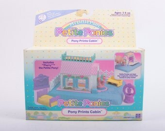 My Little Pony, Petite Ponies, Pony Prints Cabin with Box, Incomplete ~The Pink Room ~ 161124