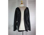 Cocoon Jacket - Black Organic Thermal w/ Art Nouveau OSFA Ready to Ship