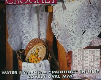 Crochet Patterns Magic Crochet 103 August 1996 Nativity Creche Sweater Women Children Doilies Tablecloth
