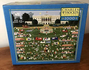 Charles Wysocki Americana® Fourth of July 1981 MB puzzle 1000 pieces 04679-M03