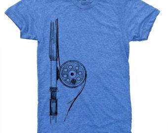 Fly Fishing Rod Men's TShirt, Fishing Gifts, Gift for Men, Fishing Shirt, Fly Rod Reel, Alaska, Fly Fishing Men's Shirt, Gift for Husband