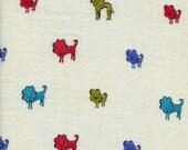 Cotton + Steel Clover double gauze - dog lions blue - 50cm