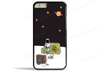 iPhone 7 Case Space Cat Phone Case Astronaut Samsung Galaxy S7 Case iPhone 6s Case Nintendo NES Brave Moonman