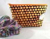 Jack O' Lantern zippy bag by Annie Purl
