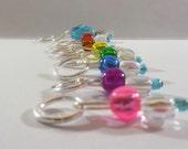 Sparkly Rainbow stitch markers by AnniePurl