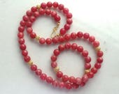Lengthy Luxe Natural Rhodochrosite, 22kg Vermeil Luxe Layering Necklace...