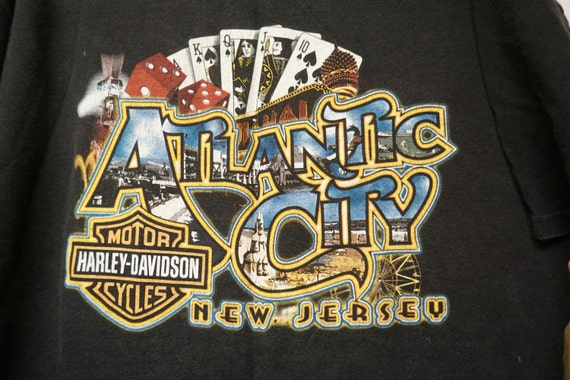 Harley Davidson Atlantic City New Jersey Black Shirt By June22 High