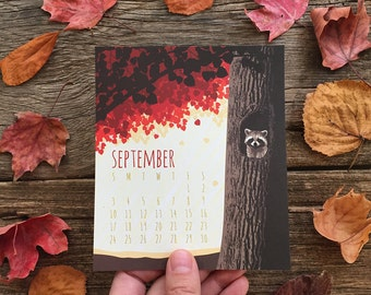 2017 Calendar / Desk Calendar / Flora and Fauna